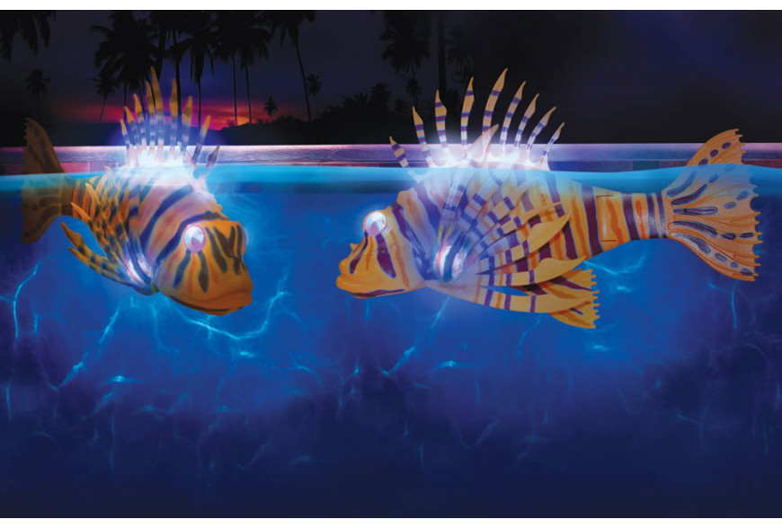 Peces que iluminan tu piscina